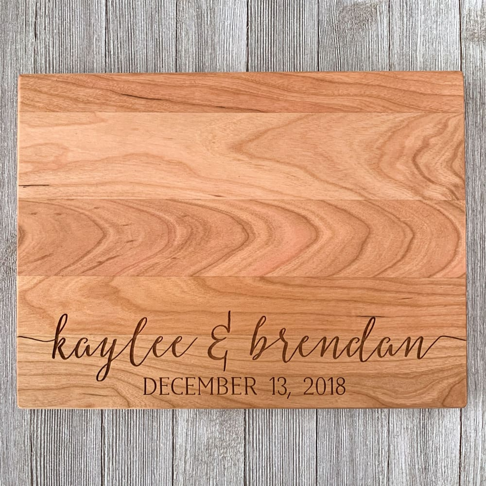 Lovebirds Personalized Cutting Board