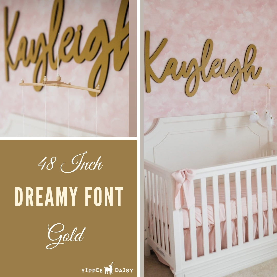 personalized name sign in gold