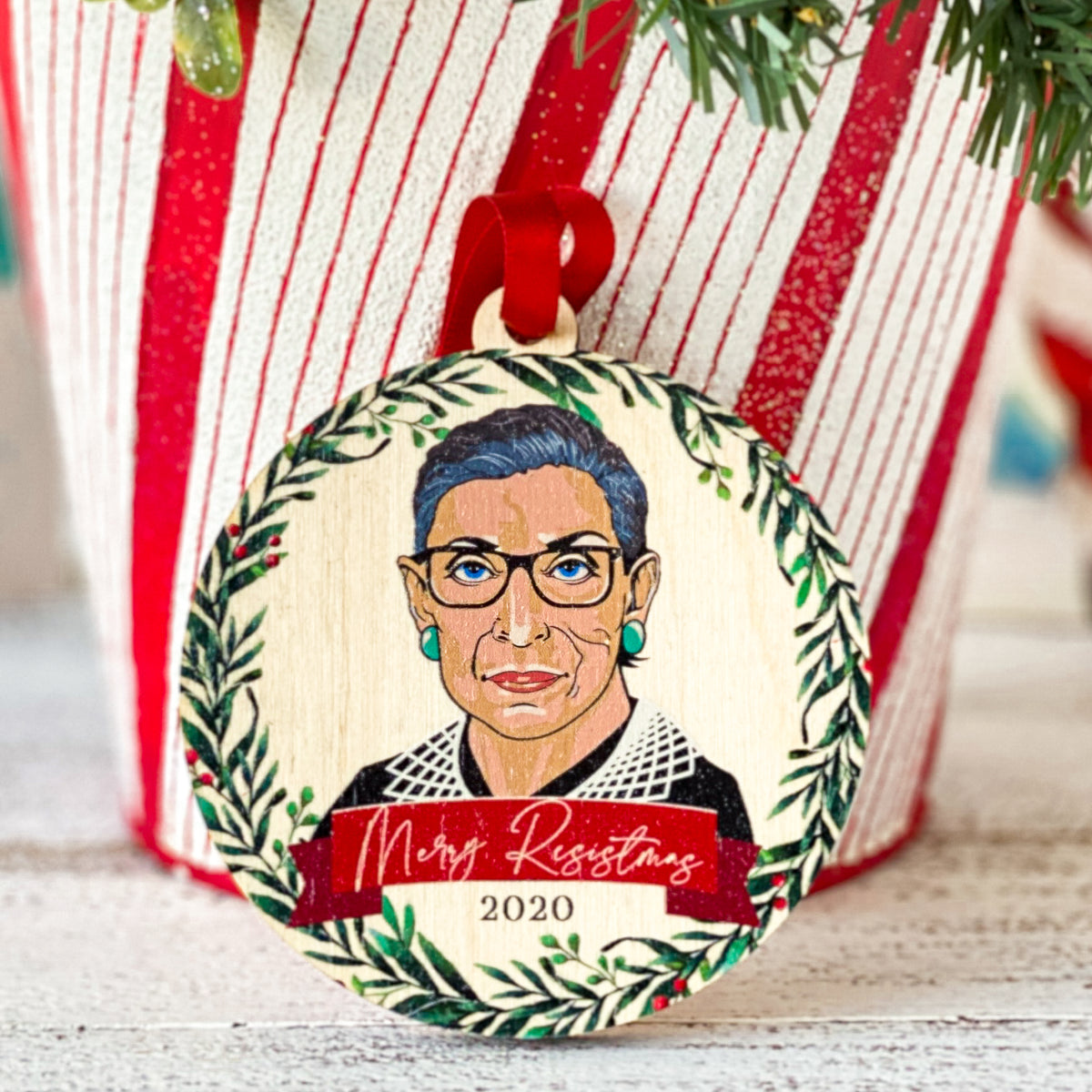 Merry Resistmas 2020 Round Ornament