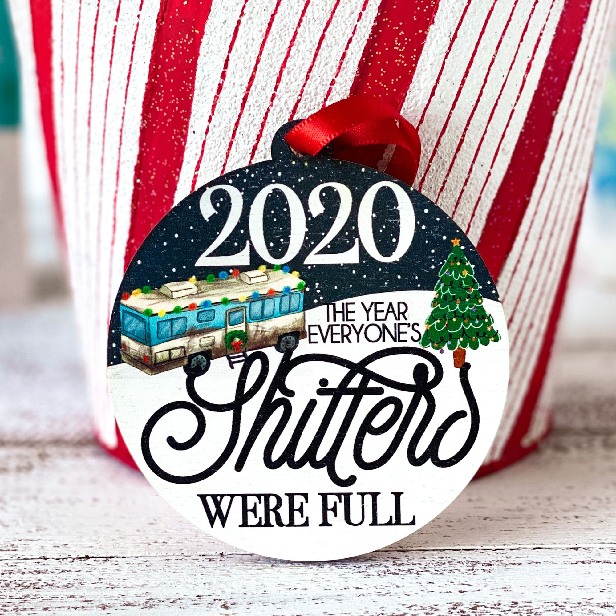 shitters full christmas ornament