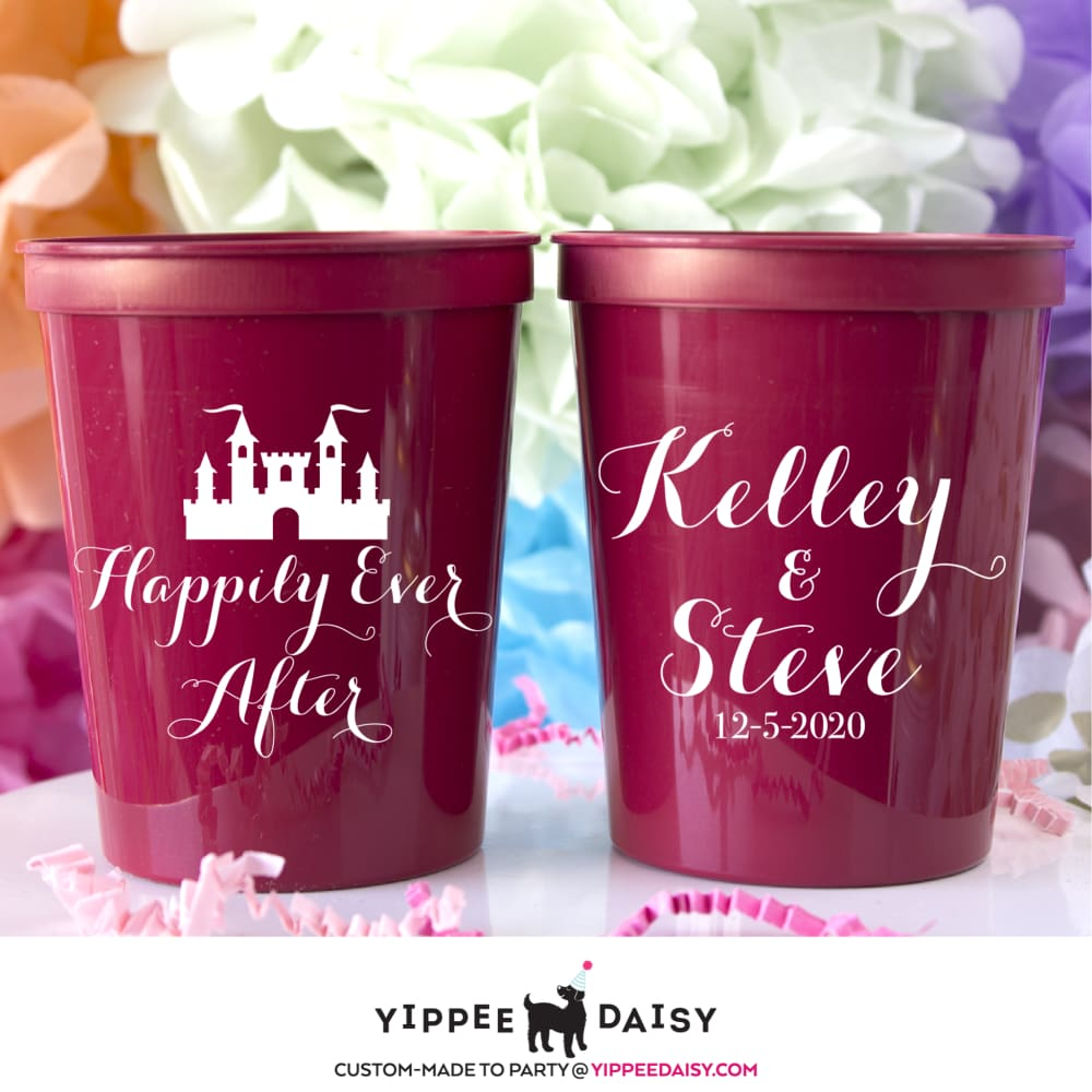 Happily Ever After Personalized Wedding Stadium Cups - Stadium Cup