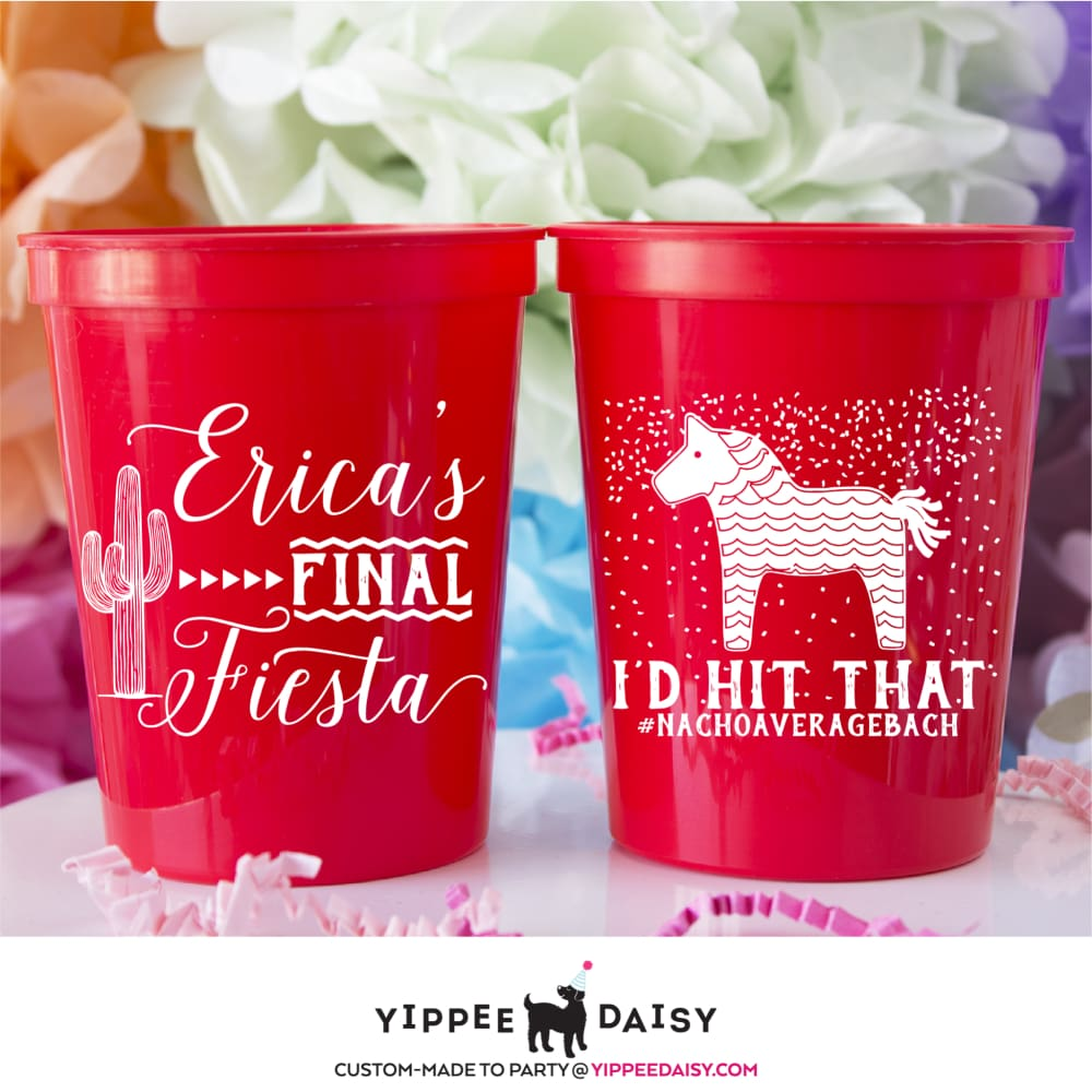 Id Hit That Piñata Personalized Bachelorette Stadium Cups - Stadium Cup