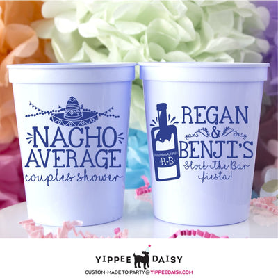Nacho Average Personalized Couples Shower Stadium Cups - Stadium Cup