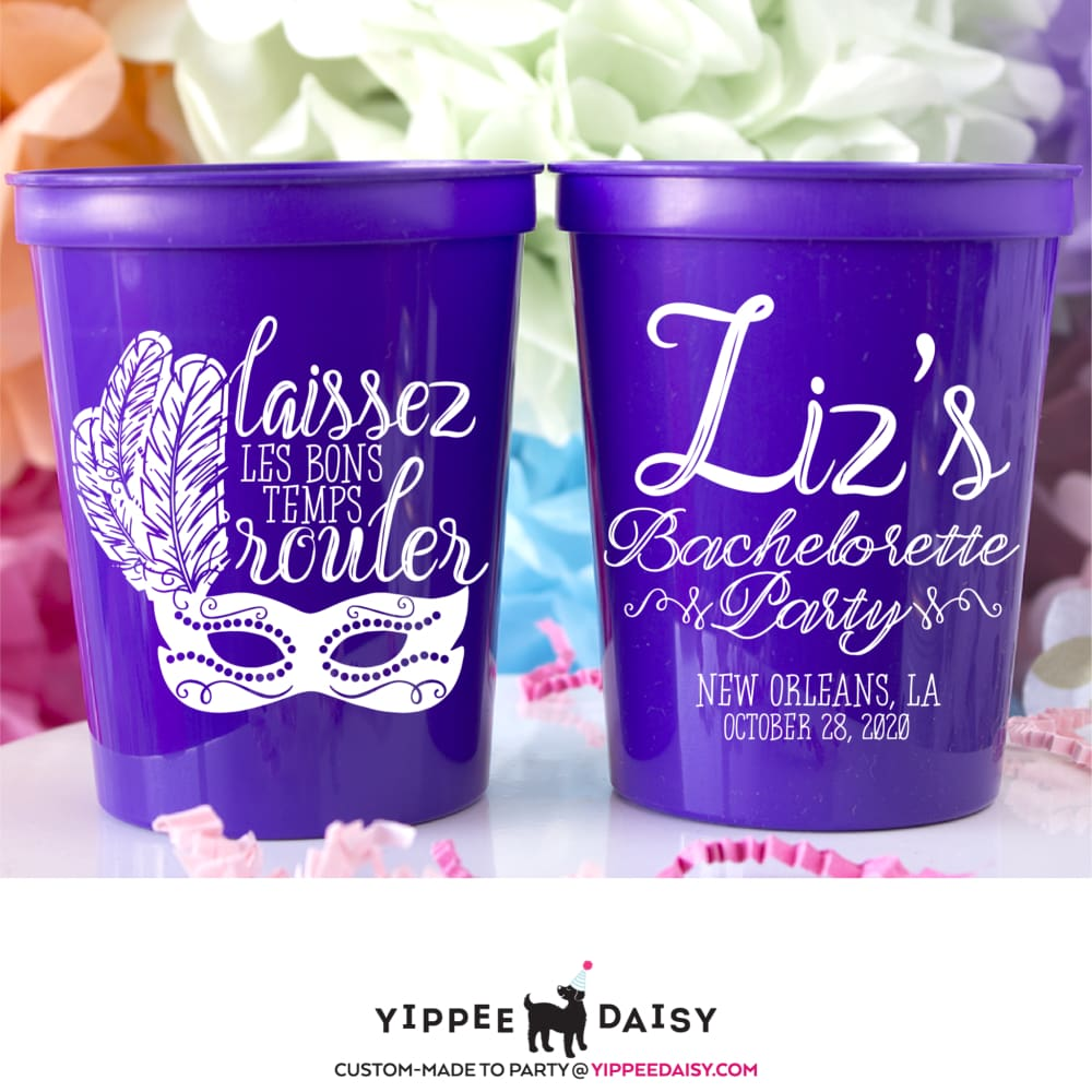 New Orleans Bachelorette Party Stadium Cups