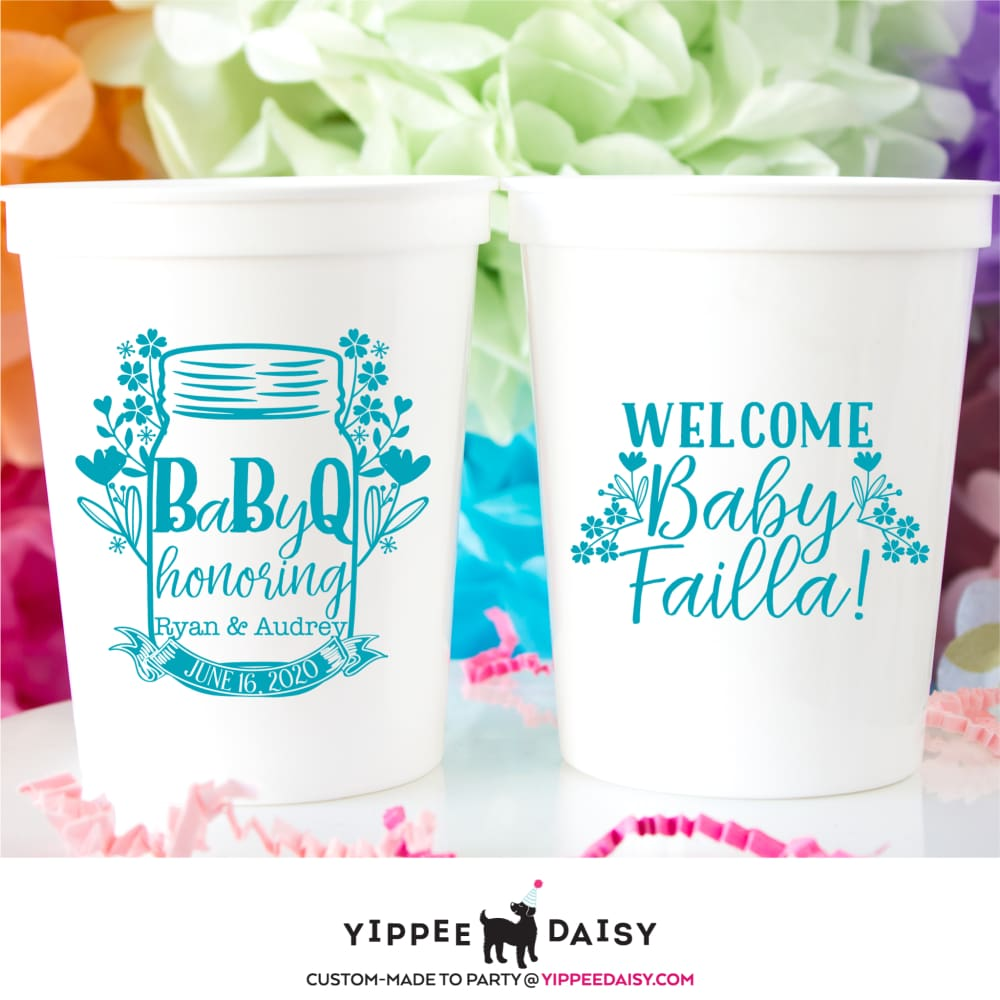 Custom Cups Sip /& See Party Cups It/'s a Girl Ideas Welcome Baby Frost Flex Shatterproof Cups Mermaid Baby Shower Mermaid Party Decor