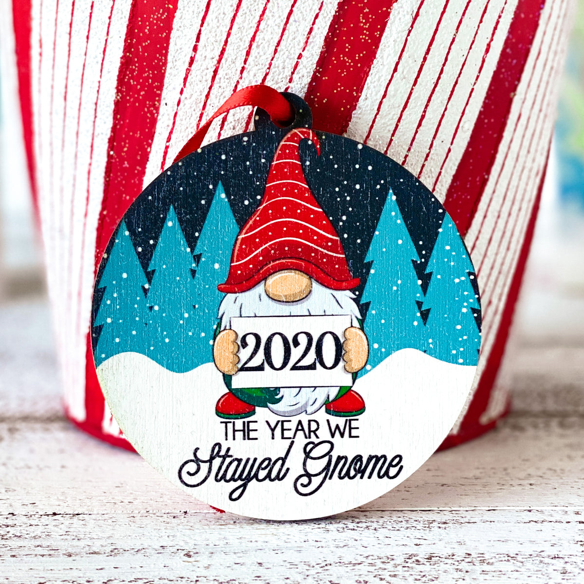 2020 gnome christmas ornament