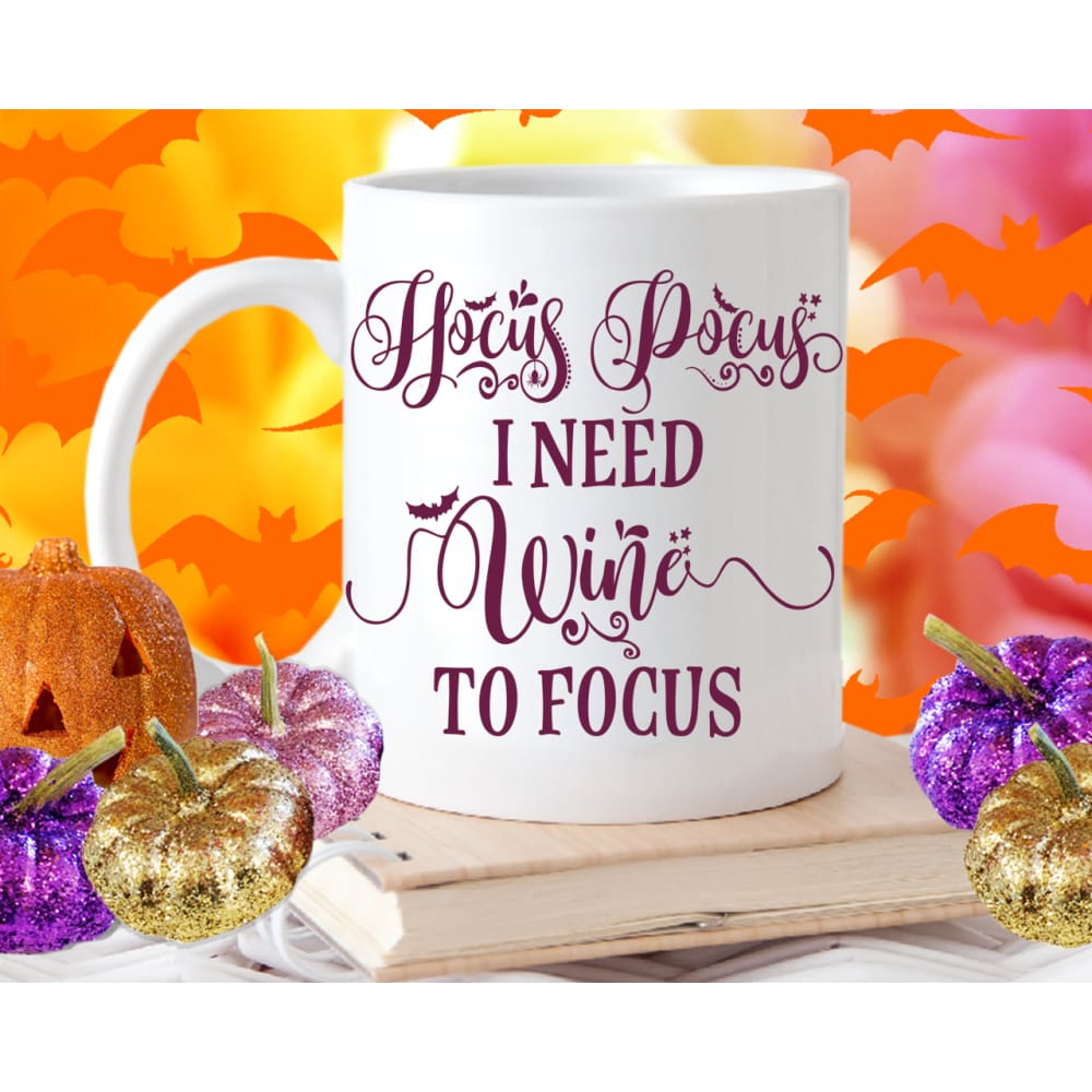 Hocus Pocus I Need Wine To Focus Mug - Mug