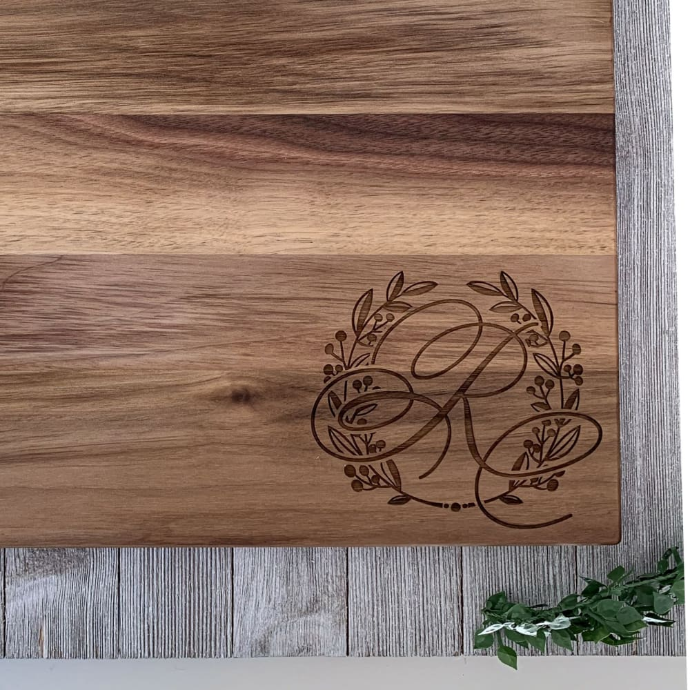 Custom Family Engraved Wooden Cutting Board