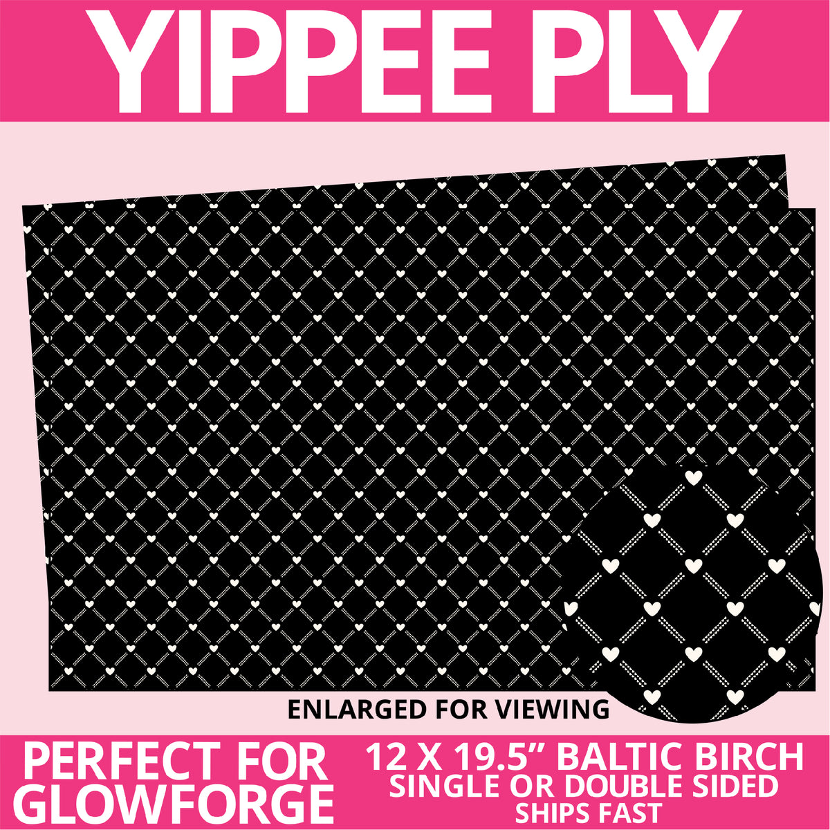 Yippee Ply Happy Heart Pattern on Birch Plywood 1020