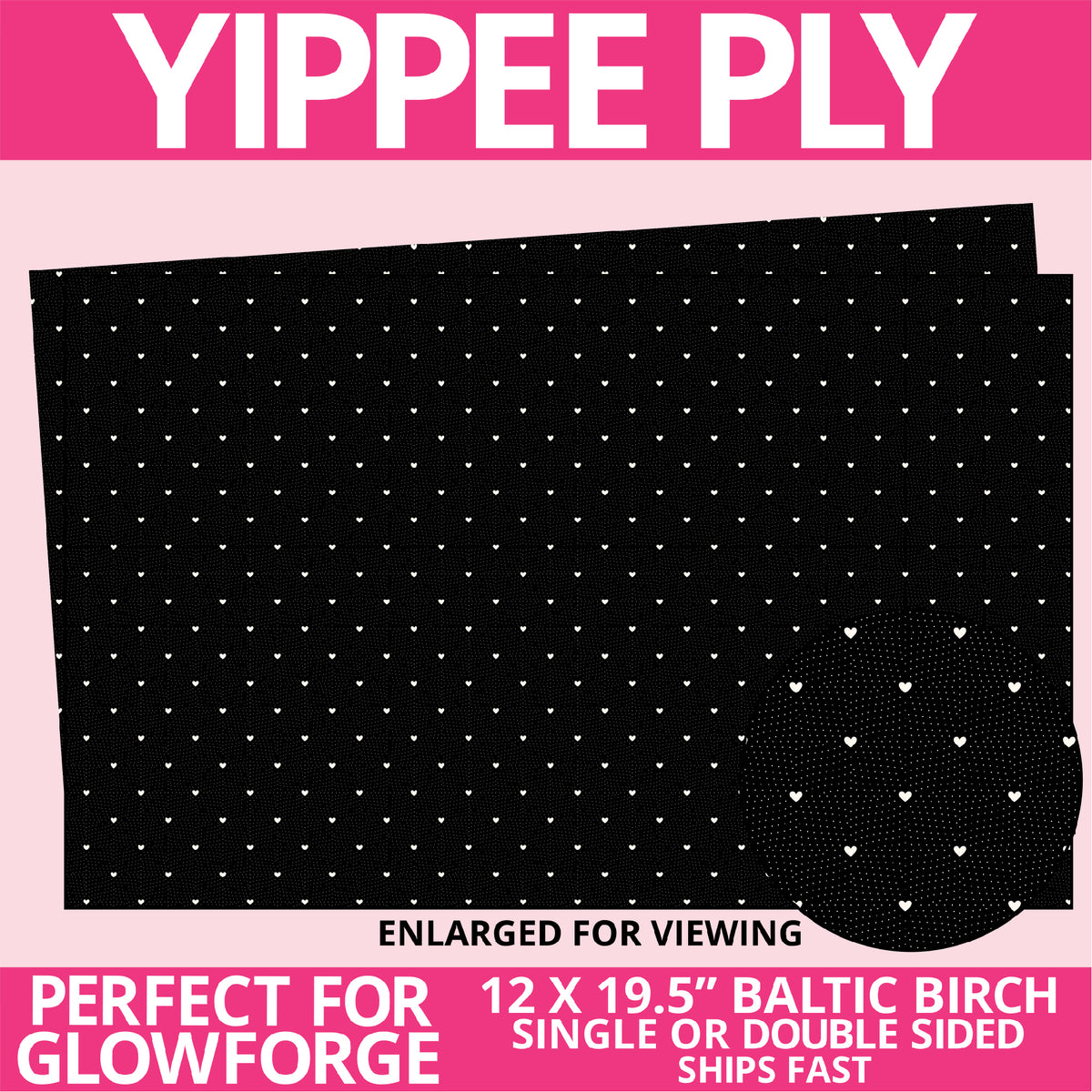 Yippee Ply Celestial Love Pattern on Birch Plywood 1021