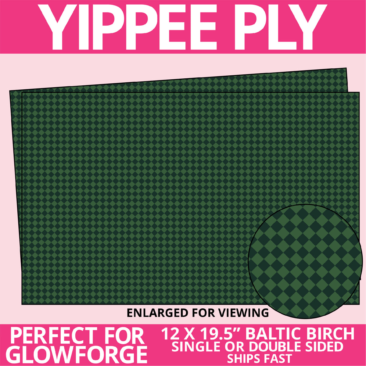Yippee Ply Bagpipe Loving Pattern on Birch Plywood 1030