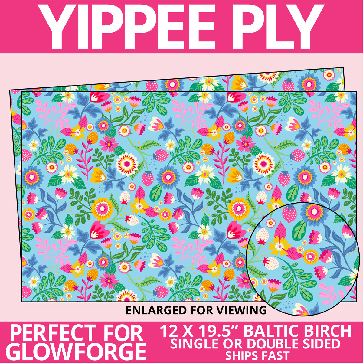 Yippee Ply Preppy Spring Pattern on Birch Plywood 1032