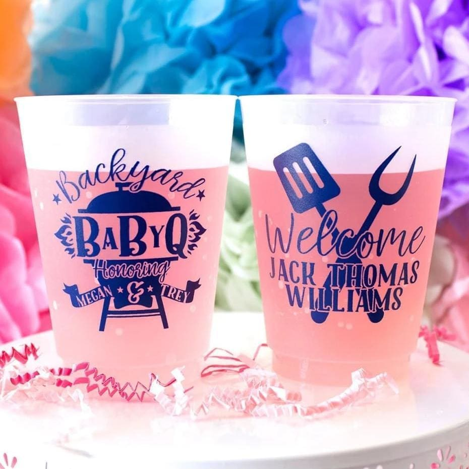 Baby Q Personalized Baby Shower Frosted Cups - Frosted Cup