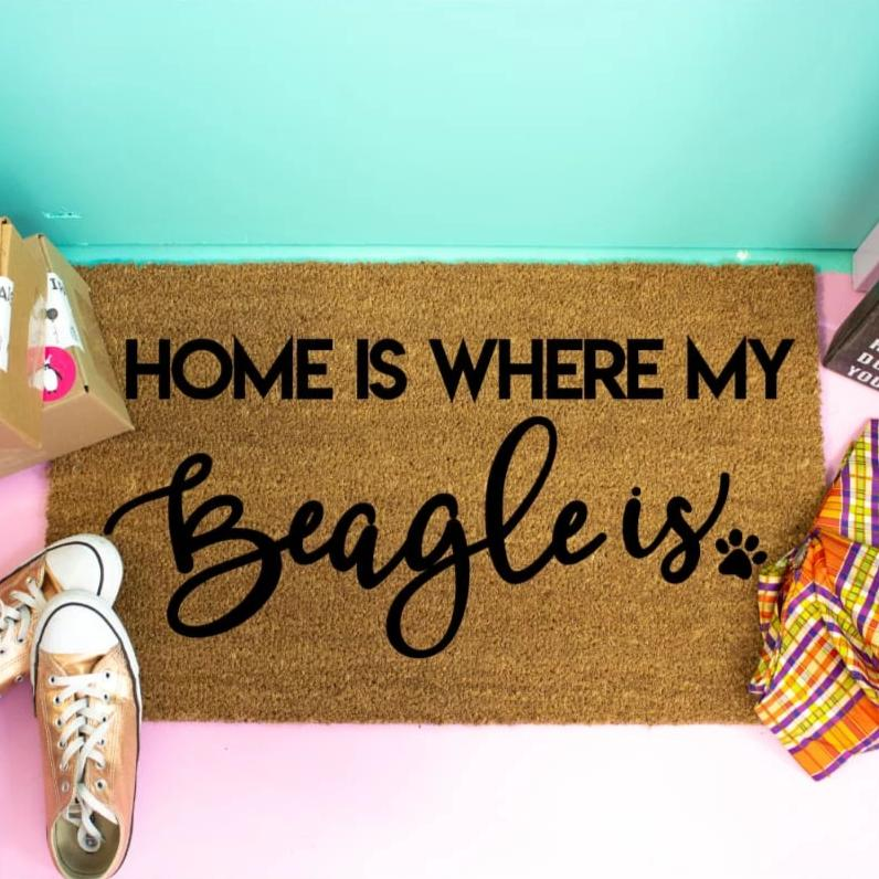 Home Is Where My Beagle Is - Doormat