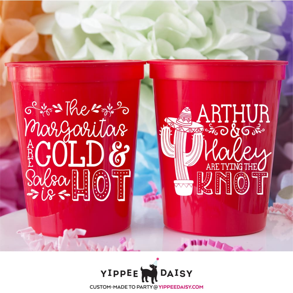 Gold And Hot Stadium Cups