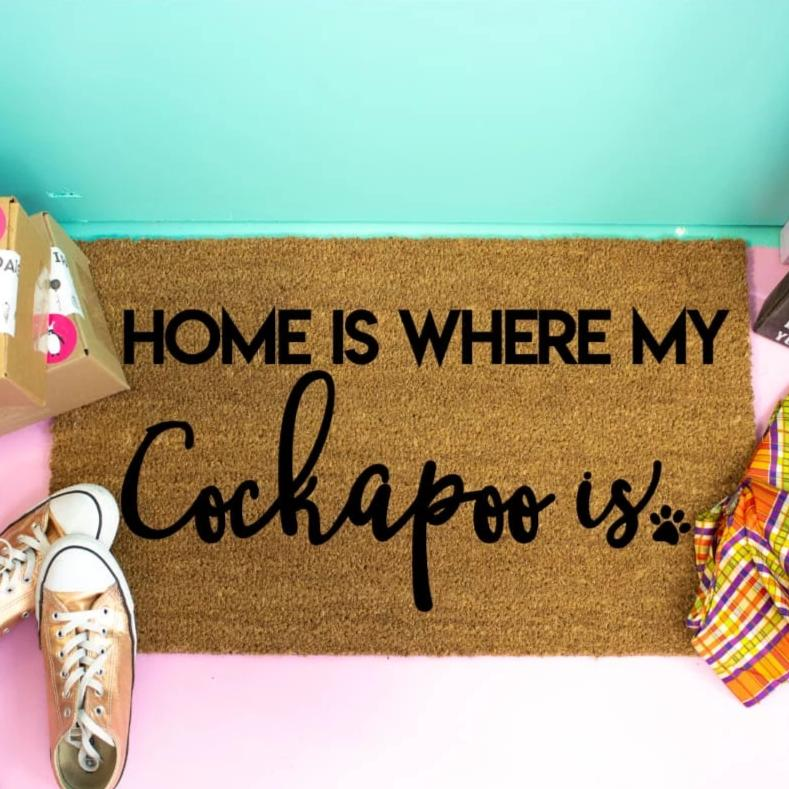 Home Is Where My Cockapoo Is - Doormat
