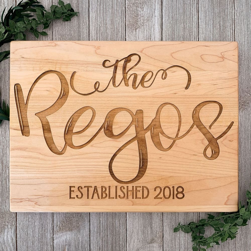 The Family Ingrained Personalized Cutting Board