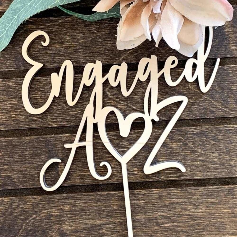 Engaged Cake Topper - Cake Topper