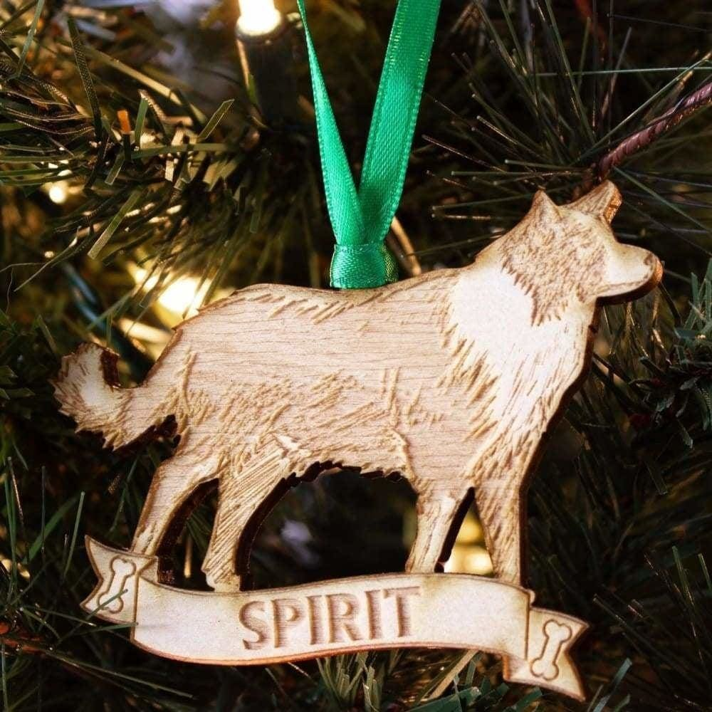 Custom with Name Border Collie Dog Ornament Great as Christmas Gift!