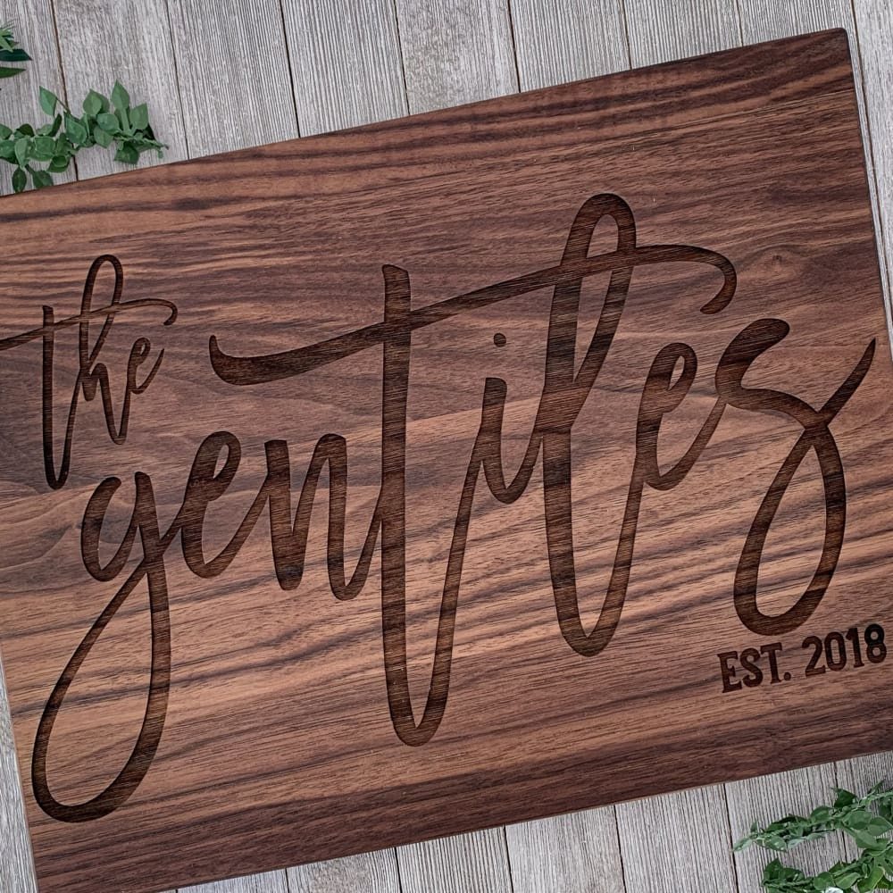 Last Name Personalized Engraved Cutting Board - Cutting Boards