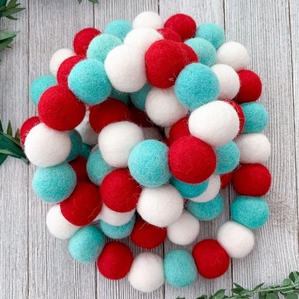 felt ball garland magical christmas