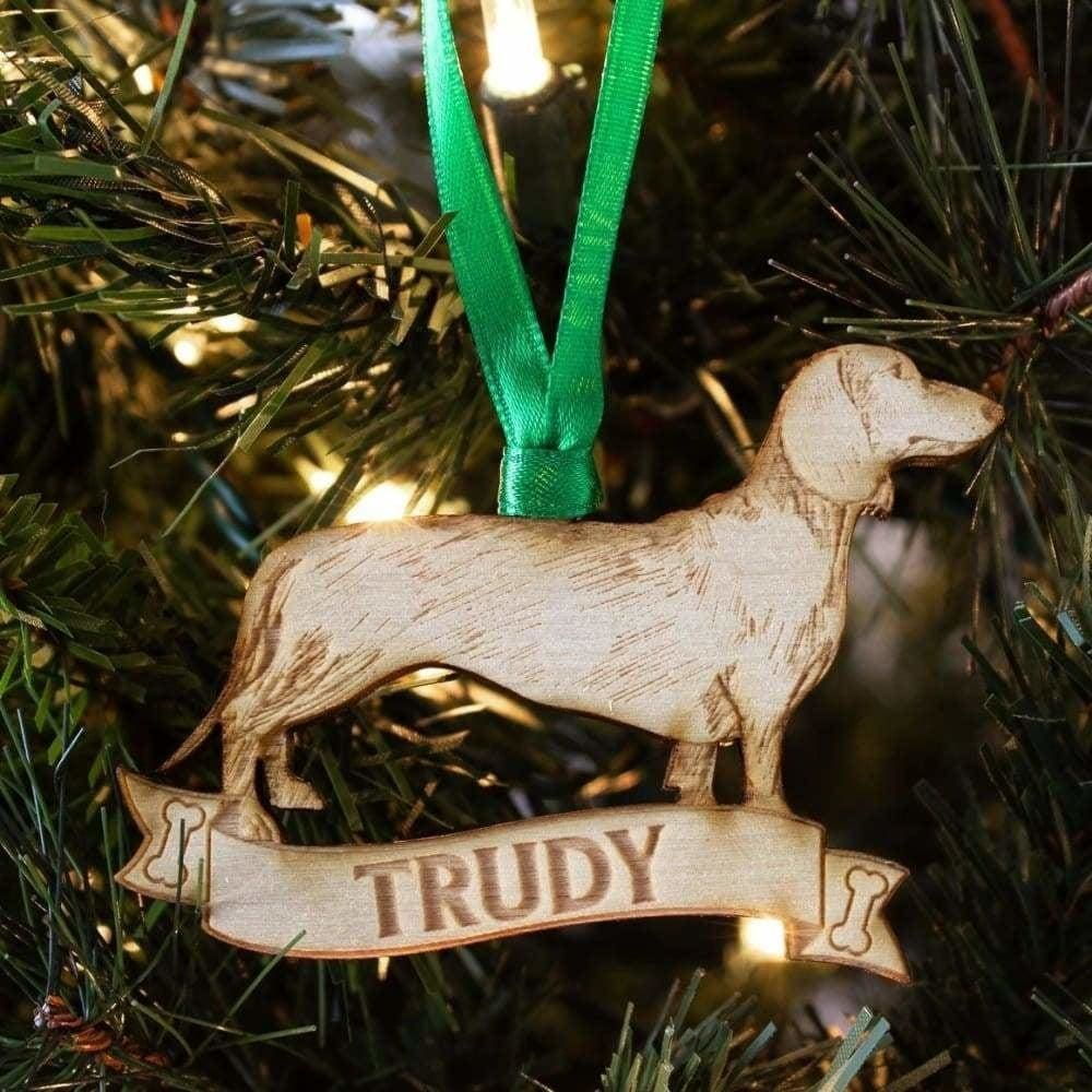 Dachshund Gift Personalized Dog Ornament - Ornaments
