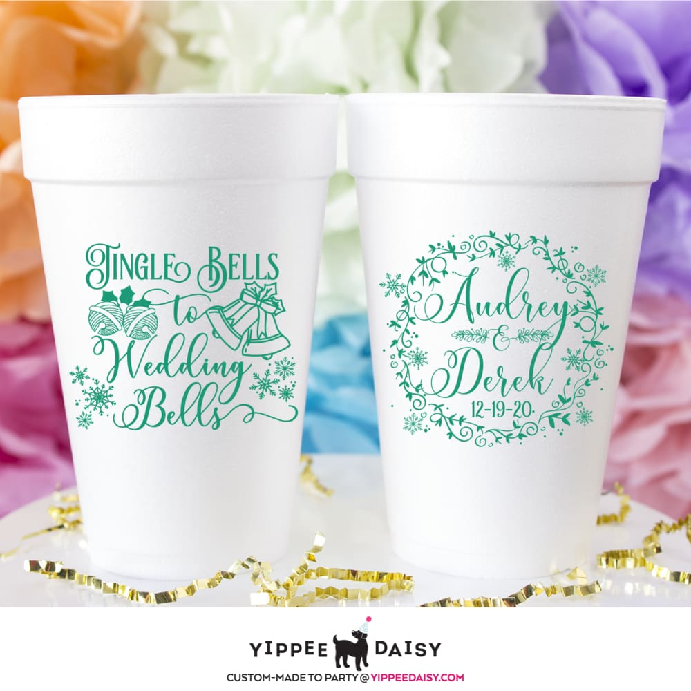 Jingle Bells To Wedding Bells - Foam Cups