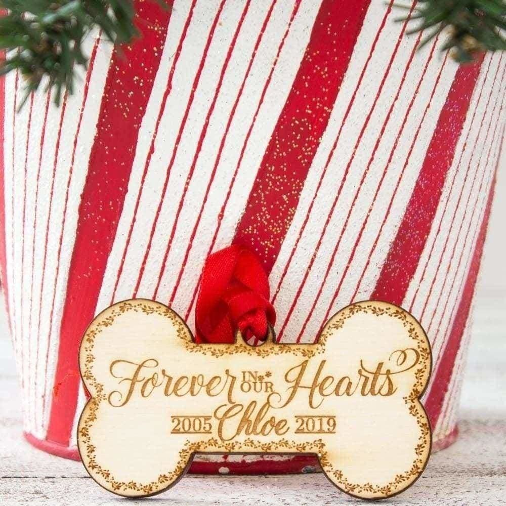 Forever in Our Hearts Dog Bone Ornament - Ornaments