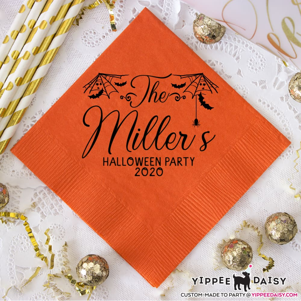 Custom Personalized Halloween Napkins - Napkins