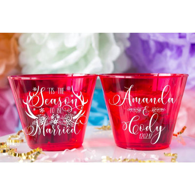 Tis the Season to be Married Christmas Wedding Cups