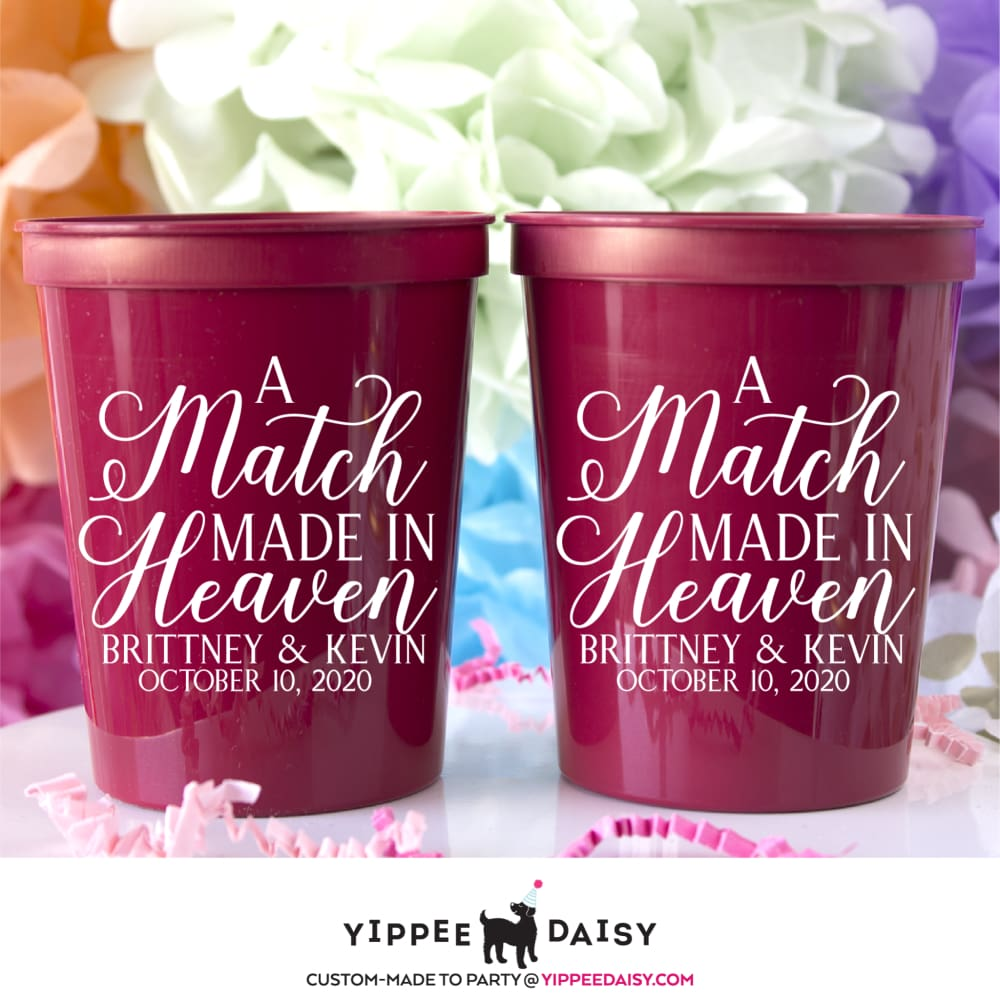 A Match Made In Heaven Stadium Cups