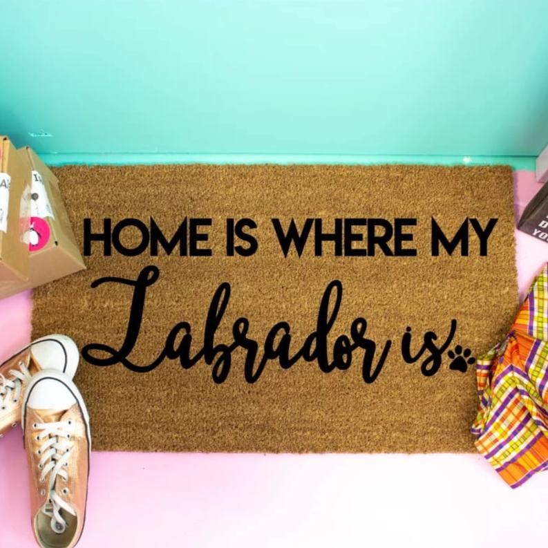 Home Is Where My Labrador Is Custom Doormat - Doormat