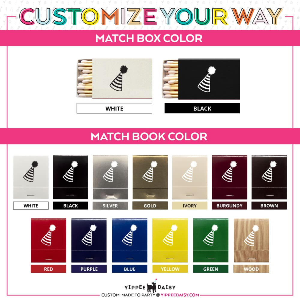 Customize Your Way For Any Event Personalized Matches - Matches