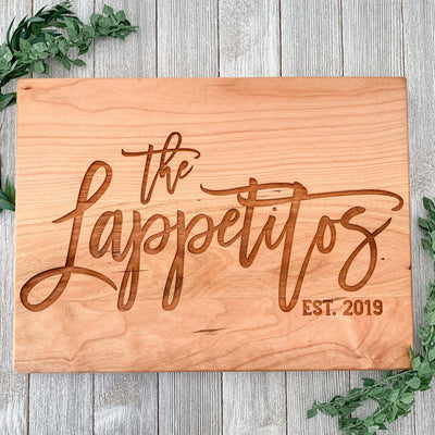 The Generations Elegant Personalized Cutting Board