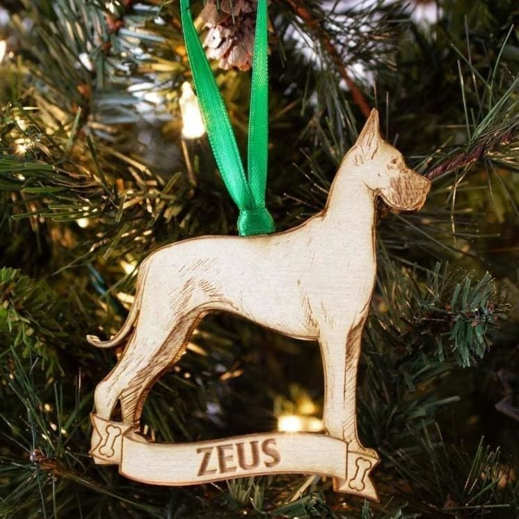 Great Dane Personalized Dog Ornament - Ornaments