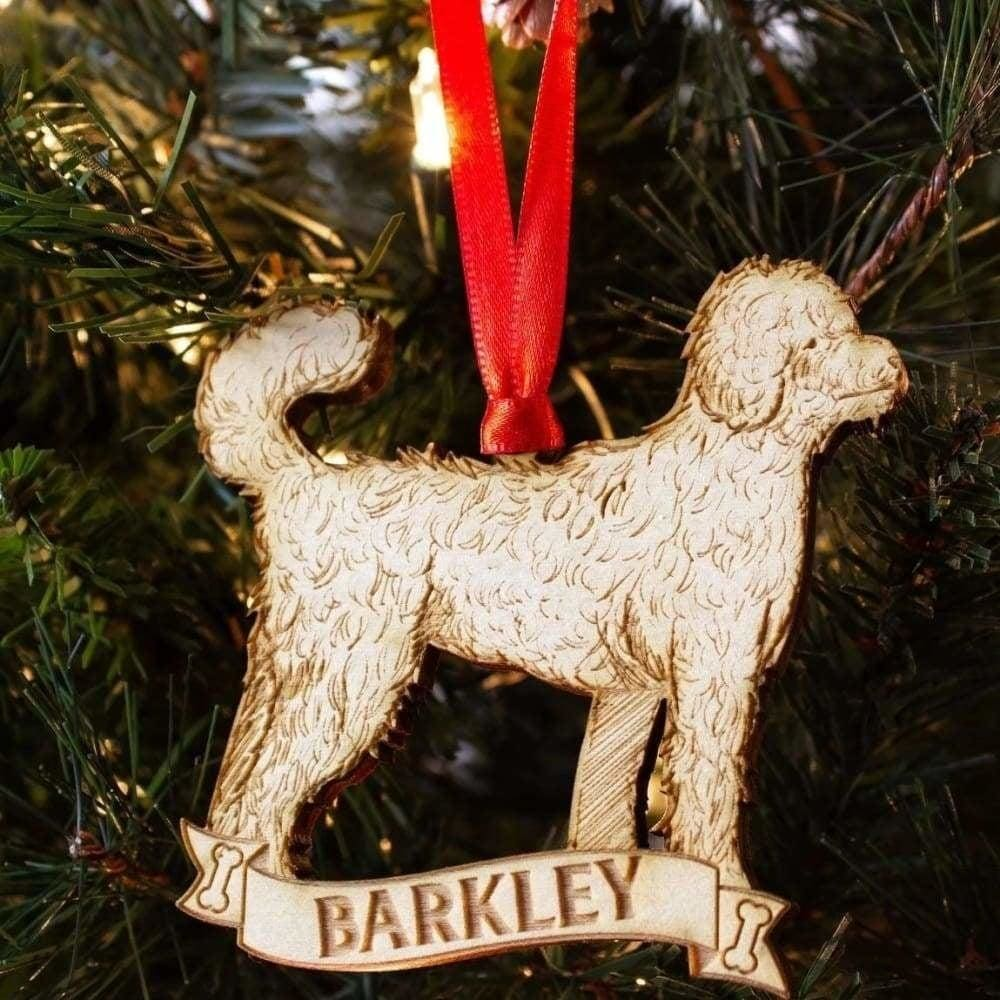 Goldendoodle Personalized Dog Ornament
