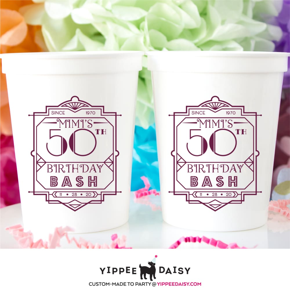 Birthday Bash Stadium Cups