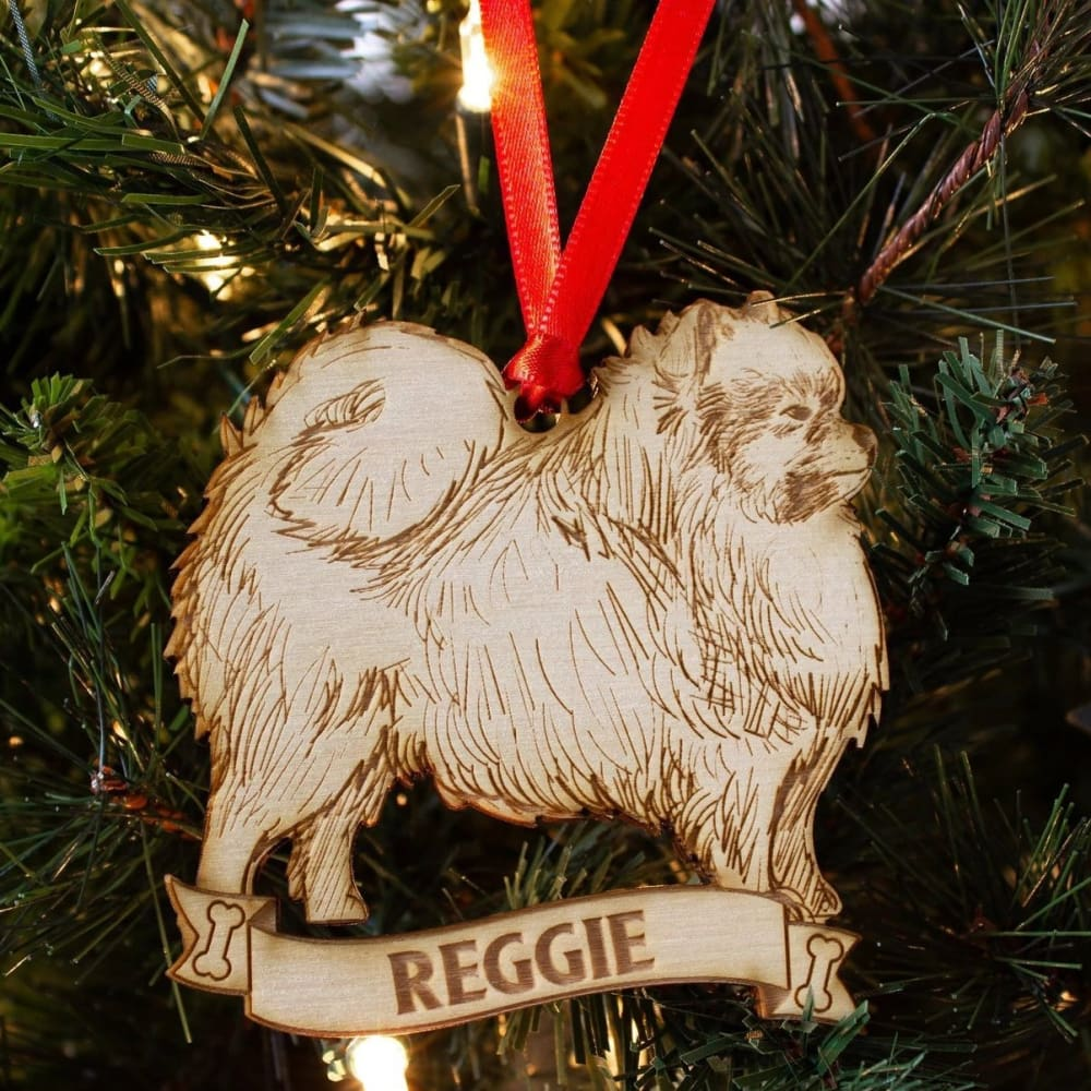 Pomeranian Personalized Dog Ornament - Ornaments