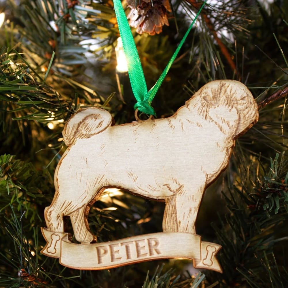 Pug Gift Personalized Dog Ornament - Ornaments