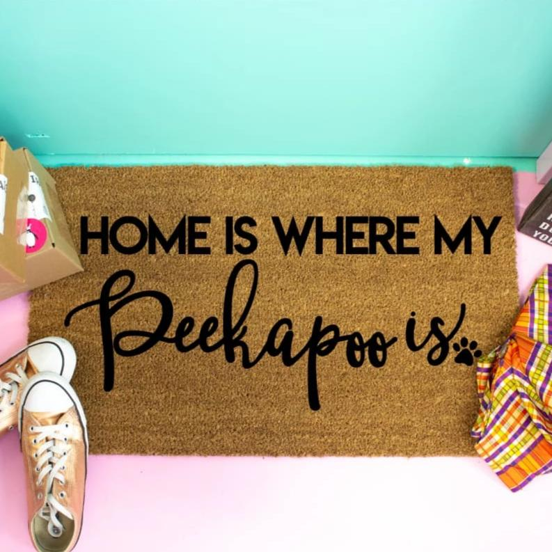Home Is Where My Peekapoo Is - Doormat