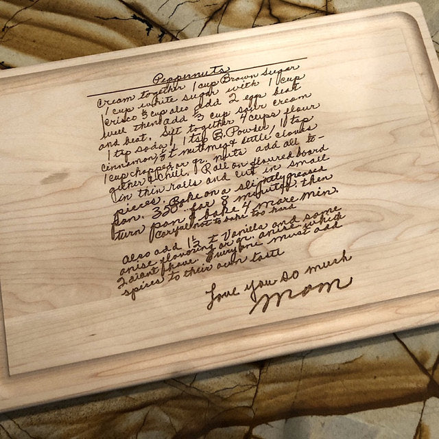 Handwritten Recipe Personalized Cutting Board
