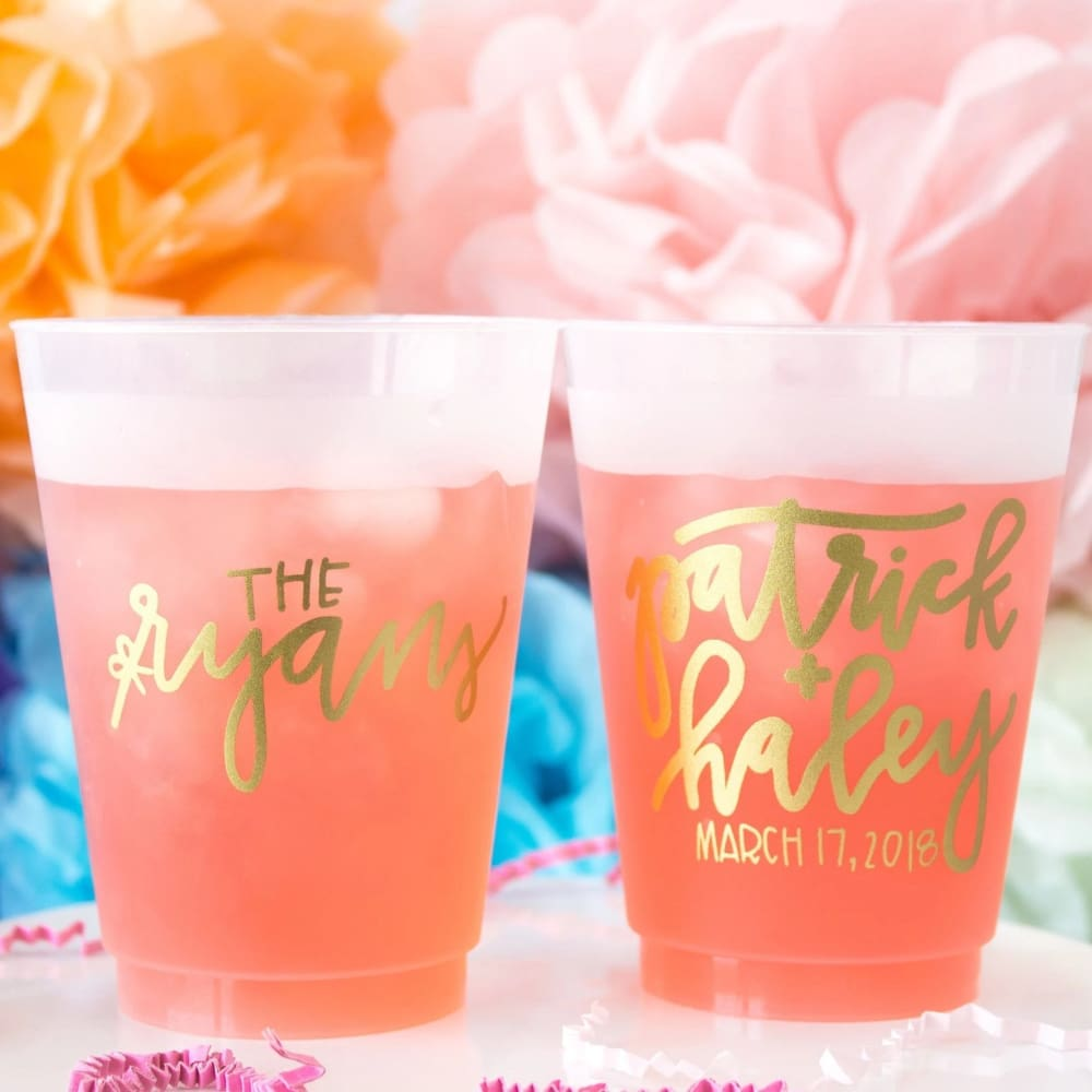 Handwritten Personalized Wedding Frosted Cups - Frosted Cup