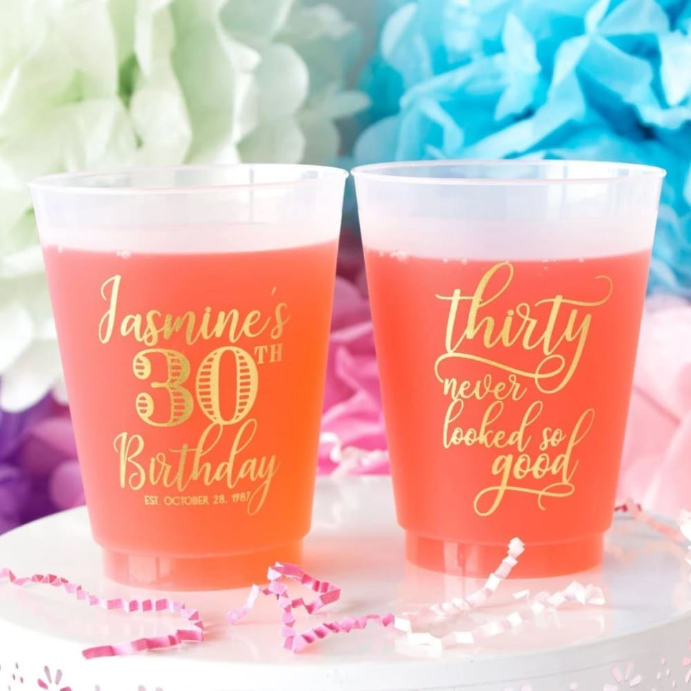 Thirty Never Looked So Good Personalized Birthday Frosted Cups - Frosted Cup