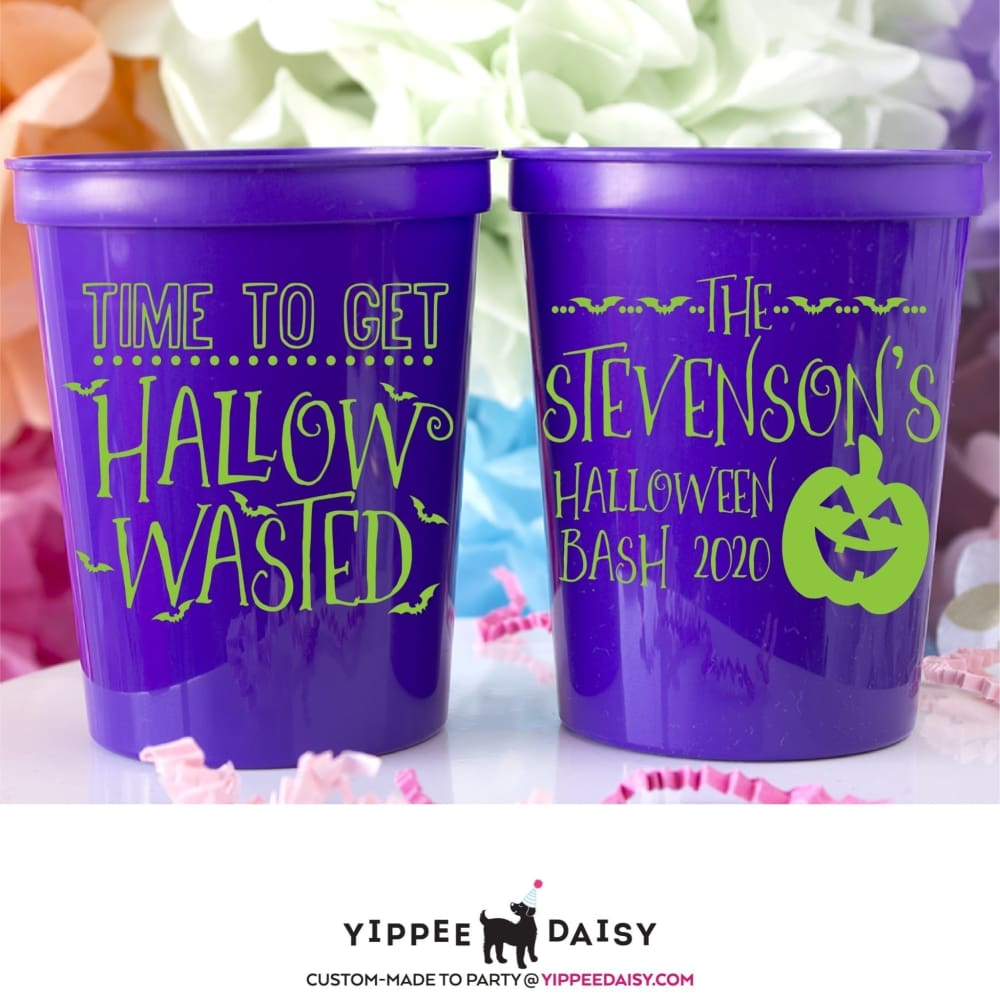 Time To Get Hallow Wasted Personalized Halloween Stadium Cups - Stadium Cup