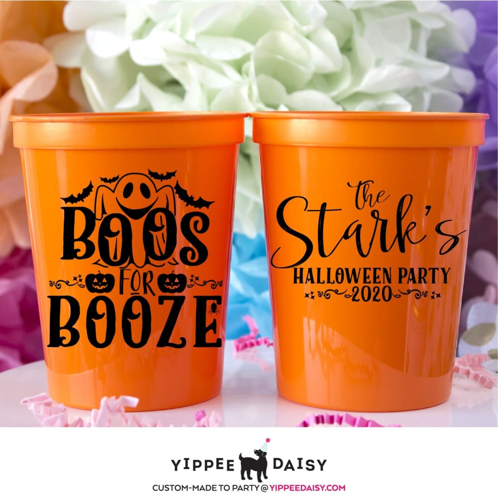 Boos For Booze Personalized Halloween Stadium Cups - Stadium Cup