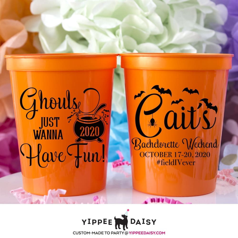 Ghouls Just Wanna Have Fun Personalized Halloween Stadium Cups - Stadium Cup