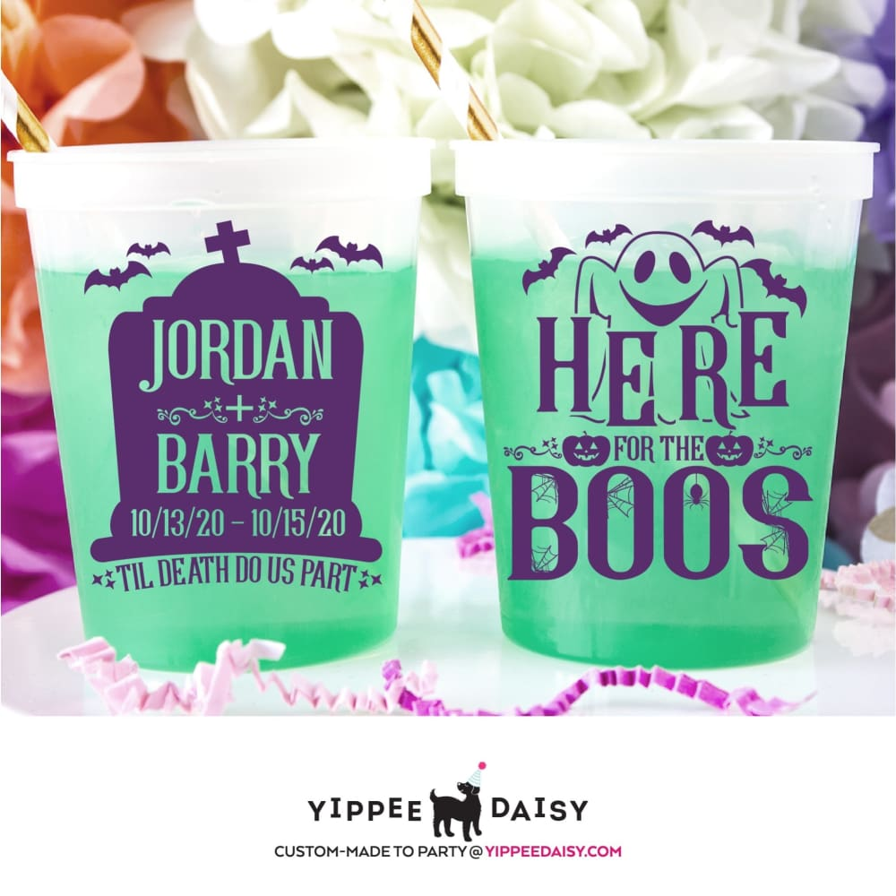 Here For The Boos Personalized Halloween Color Changing Cups - Color Changing Cup