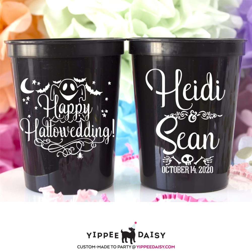 Happy Hallowedding Personalized Halloween Stadium Cups - Stadium Cup