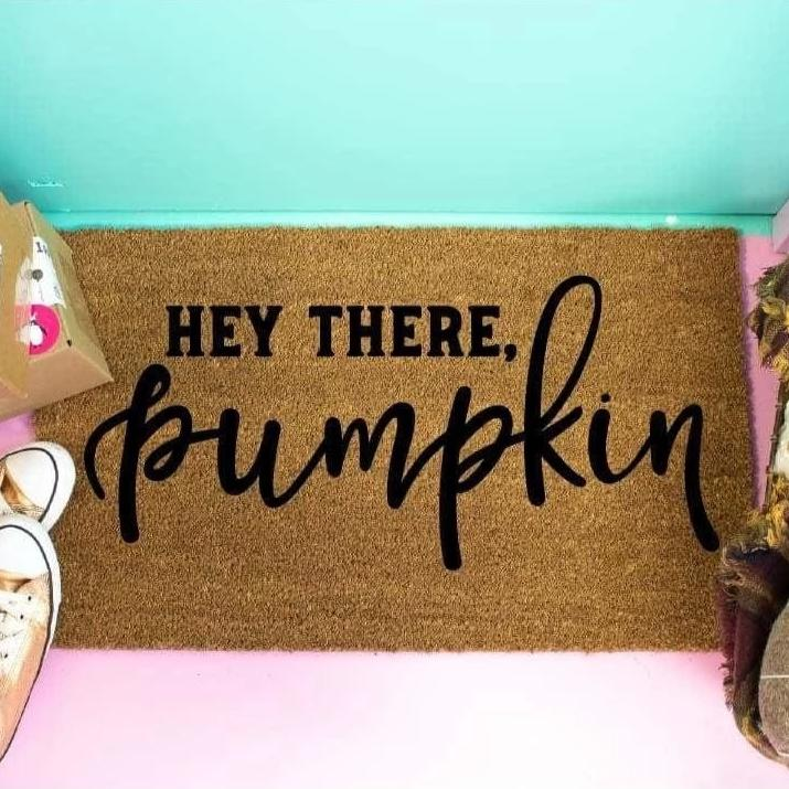 Hey There Pumpkin Doormat Halloween Decor - Doormat