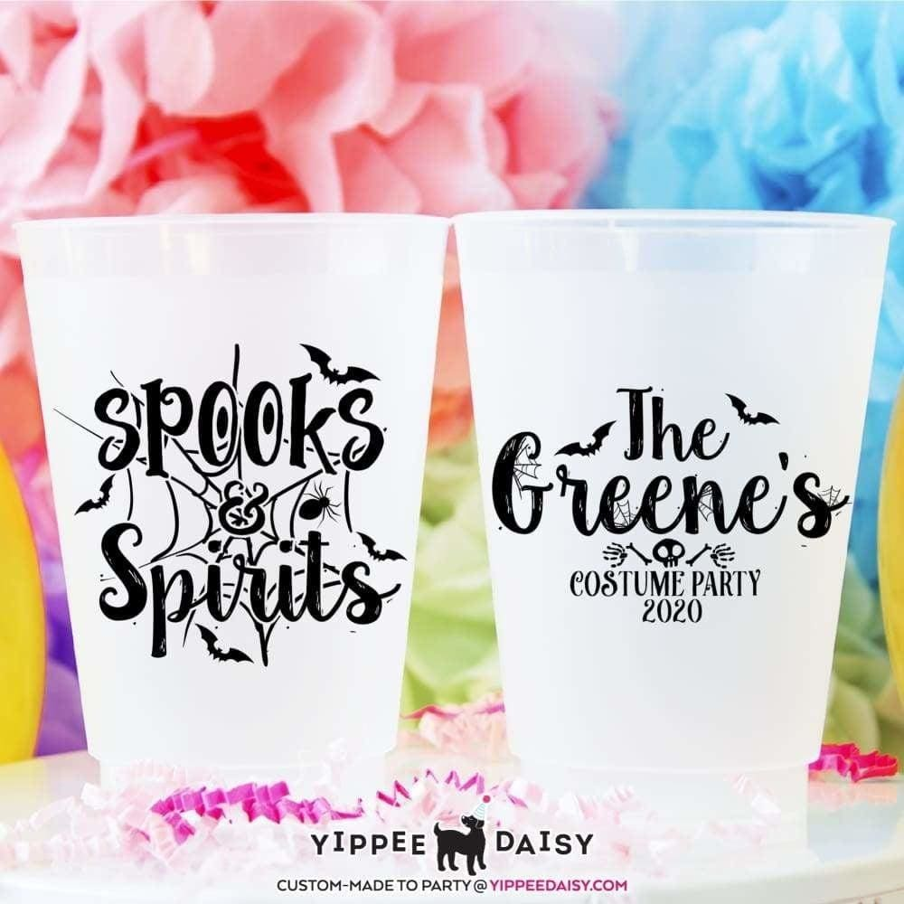 Spooks & Spirits Custom Personalized Halloween Frosted Cups - Frosted Cup